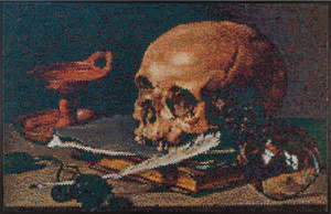 Still Life with a Skull and a Writing Quill Interpreted